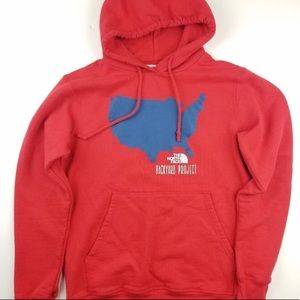 Red North Face Backyard Project Hoodie